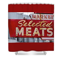 Selected Meats Shower Curtain