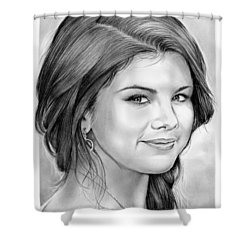 Selena Gomez Shower Curtain