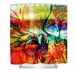 Shower Curtain featuring the mixed media Self Employed by Fania Simon