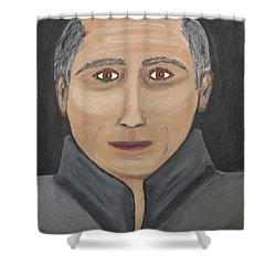 Shower Curtain featuring the painting Self by Jeffrey Koss