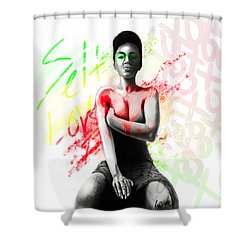 Self Love Xoxo Shower Curtain