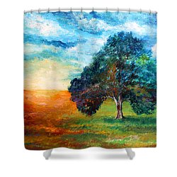 Self Portrait #3 A New Day Shower Curtain