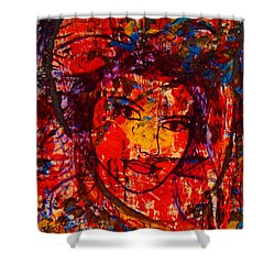 Self-portrait-5 Shower Curtain by Natalie Holland