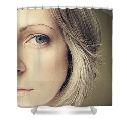 Self-portrait Shower Curtain by Amy Tyler