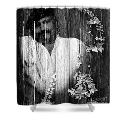 Self Portrait Shower Curtain by Clayton Bruster