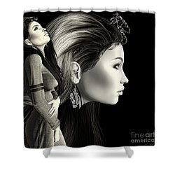 Self Portrait Digital Shower Curtain