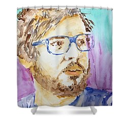 Self Portrait Of A Younger Me Shower Curtain