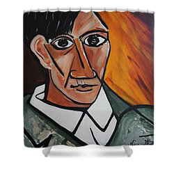 Self Portrait Of Picasso Shower Curtain