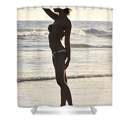 Self Reflecting Shower Curtain by Robert WK Clark