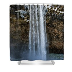 Seljalandsfoss Waterfall Iceland Europe Shower Curtain by Matthias Hauser