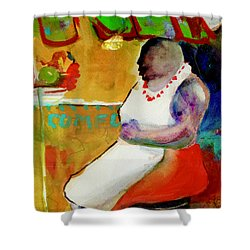 Selling Fruit In Colombia Shower Curtain