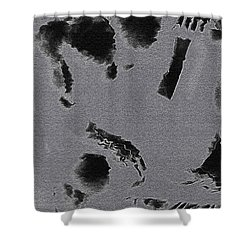 Semi-nude Original Abstract Art Cowboy Shower Curtain