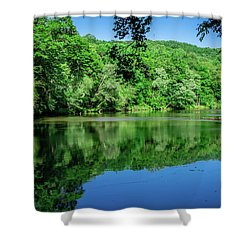 Semi Placid Stream Shower Curtain