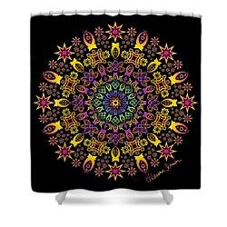 Semi-tribal Rotation Shower Curtain