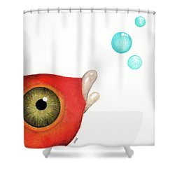 Sending My Love Across The Ocean Shower Curtain