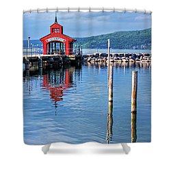 Seneca Lake Harbor Shower Curtain