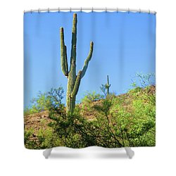 Senior And Junior Soak Up Sun Shower Curtain