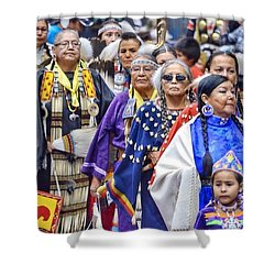 Senior Traditional Women Shower Curtain by Clarice Lakota