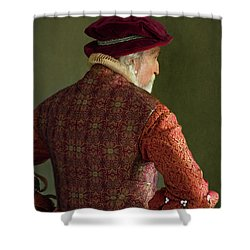 Senior Tudor Man Shower Curtain by Lee Avison