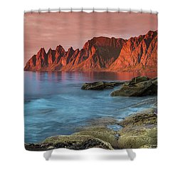 Senja Red Shower Curtain