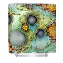 Sensorial Intervention Shower Curtain by Casey Kotas