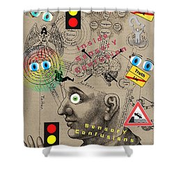 Sensory Confusions Shower Curtain