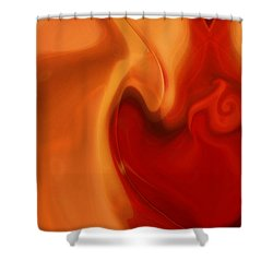 Sensual Love Shower Curtain by Linda Sannuti