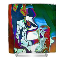 Sentinel Shower Curtain by Alika Kumar