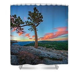 Sentinel Dawn Shower Curtain