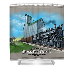 The Ross Elevator Sentinel Of The Plains Shower Curtain by Scott Ross
