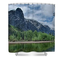 Sentinel Rock After The Storm Shower Curtain by Bill Roberts