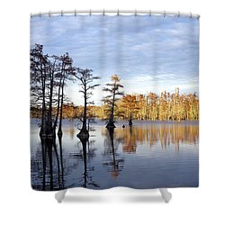 Sentinels Of The Lake Shower Curtain