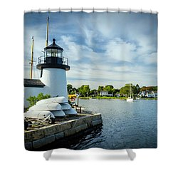 Sentinels Of The Sea Lighthouse Shower Curtain