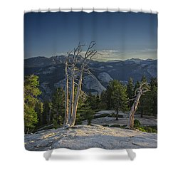 Sentinel's Summit Shower Curtain by Rick Berk