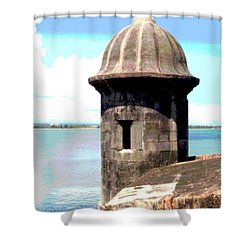 Sentry Box In El Morro Shower Curtain