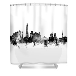 Seoul Skyline South Korea Shower Curtain