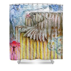Separate Reality 3 Shower Curtain by Jim Rehlin