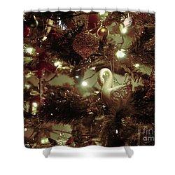 Sepia Christmas Tree Shower Curtain
