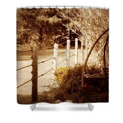 Sepia Garden Shower Curtain