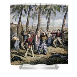 Sepoy Rebellion Shower Curtain by Granger
