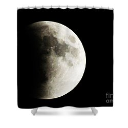 Shower Curtain featuring the photograph September 27,2015 Moon Eclipse  by J L Zarek