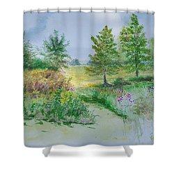 September At Kickapoo Creek Park Shower Curtain