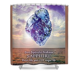 September Birthstone Sapphire Shower Curtain