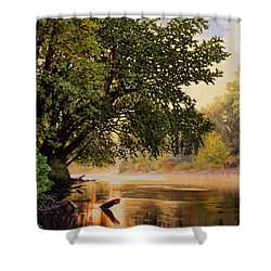 September Dawn, Little Sioux River - Studio Painting Shower Curtain
