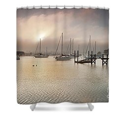 September Fog Shower Curtain by Butch Lombardi