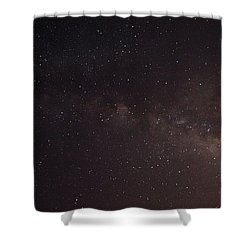 September Galaxy I Shower Curtain by Carolina Liechtenstein