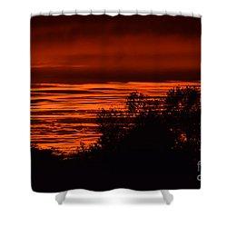 Shower Curtain featuring the photograph September Kansas Sunset by Mark McReynolds