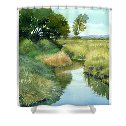 September Morning, Allen Creek Shower Curtain