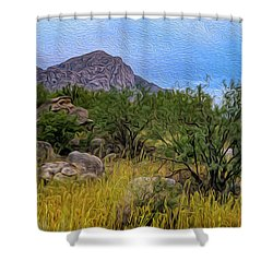 Shower Curtain featuring the photograph September Oasis No.2 by Mark Myhaver