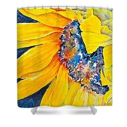 September Sunflower Shower Curtain